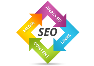 SEO arrow graphic