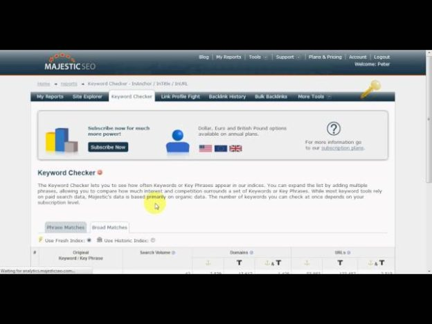 Overview Of The New Majestic SEO Keyword Checker Tool